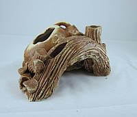 Керамика для аквариума Коряга с амфорой, 23х11 см., фото 1