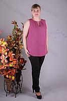 Блуза 2911-438/3 шифон больших размеров оптом