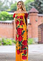 Платье в пол с розами, фото 1