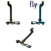 Шлейф для Fly IQ4516, коннектора зарядки, с компонентами, оригинал