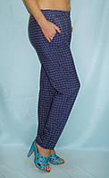 Женские летние брюки в расцветках, размеры 42-64