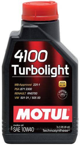 MOTUL 4100 TURBOLIGHT 10W40 (1л)