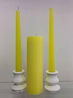 """Набор свадебных свечей """"Семейный очаг"""" SRN-37 (Цвет желтый)"""