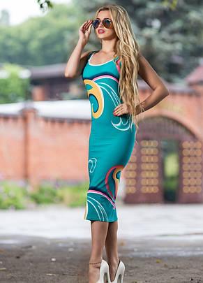 Приталенное платье из микромасла, фото 2