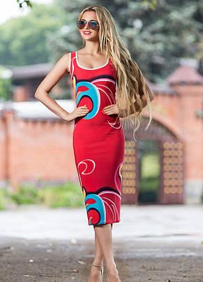 Приталенное платье из микромасла, фото 3