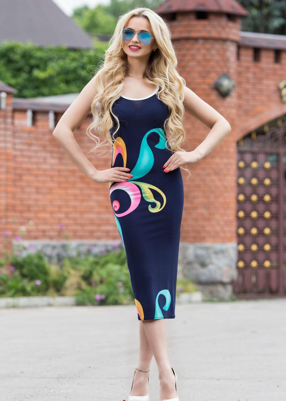 Приталенное платье из микромасла