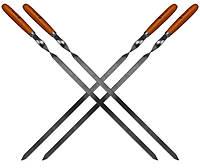 Набор Time Eco из 4 шампуров 60*1.5*0.2см с деревянными ручками, фото 1