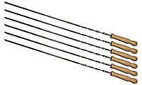 Набор Time Eco из 6 шампуров 60*0.65*0.25см с деревянными ручками, фото 1