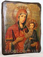 """Икона под старину """"Иверская Пресвятая Богородица"""""""