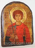 "Икона под старину ""Георгий Победоносец"" арка"