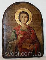 """Икона под старину """"Пантелеимон Целитель"""" арка"""