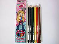 """Цветные карандаши """"Bratz"""",  6 цветов 290208"""