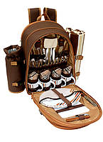 Набор для пикника на 4 персоны Time Eco Picnic в комплекте с изотермическим рюкзаком 12л