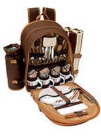 Набор для пикника на 4 персоны Time Eco Picnic в комплекте с изотермическим рюкзаком 12л, фото 1