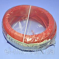 Провід монтажний мідний LgY 1*0,5 мм. кв H05V-K Elektrokabel червоний KAB0840 / бухта 100м