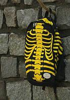 Школьный рюкзак с принтом скелета