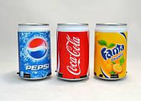 Портативная колонка Cola маленькая, музыкальная колонка Cola/Sprite/Pepsi, mp3 колонка банка coca cola