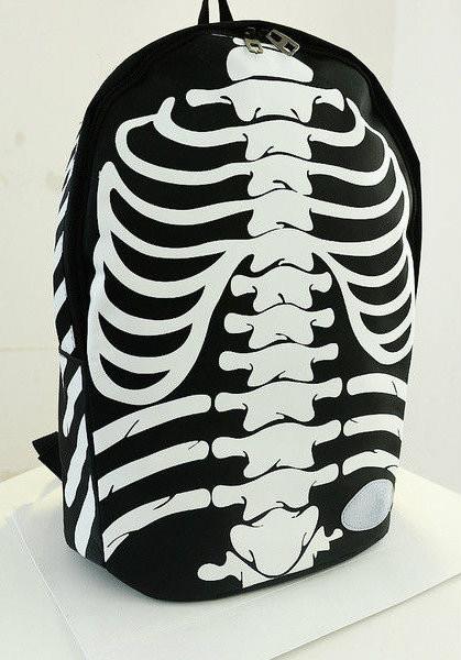 Modnyiy ryukzak s printom skeleta