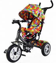 """Велосипед TILLY Trike  """"Мозаика"""",графитовый ( надувные колеса)"""