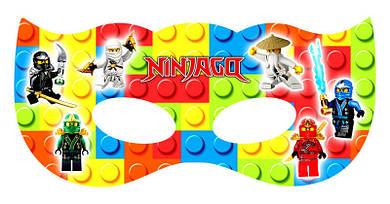 Маска Лего Нинзяго на резиночке