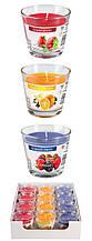 Ароматические свечи в стекле BISPOL sn90-O, набор Фруктовый