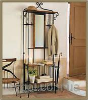 Кованый набор для прихожей комплект: зеркалом,полками,полкой для головных уборов