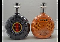 Портативная колонка DS-XO 03 коньяк Excellence, музыкальная mp3 колонка в виде бутылки коньяка Martell