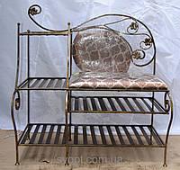 """Кованый диван """"Комби"""" 90x35"""