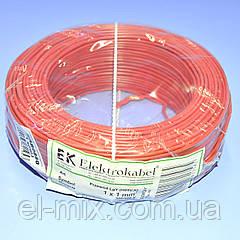 Провід монтажний мідний LgY  1*1,0мм.кв H05V-K  Elektrokabel червоний  KAB0860  / бухта 100м