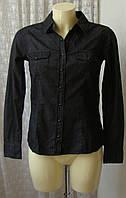 Рубашка черная хлопок Esmara р.48 7371