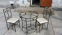 Комплект стол со стульями кованный
