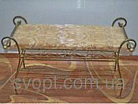 Кованая банкетка с обувной полкой (80х40х45)