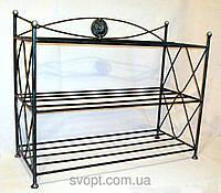 Кованая полка обувная 3 полки (80х30 см)