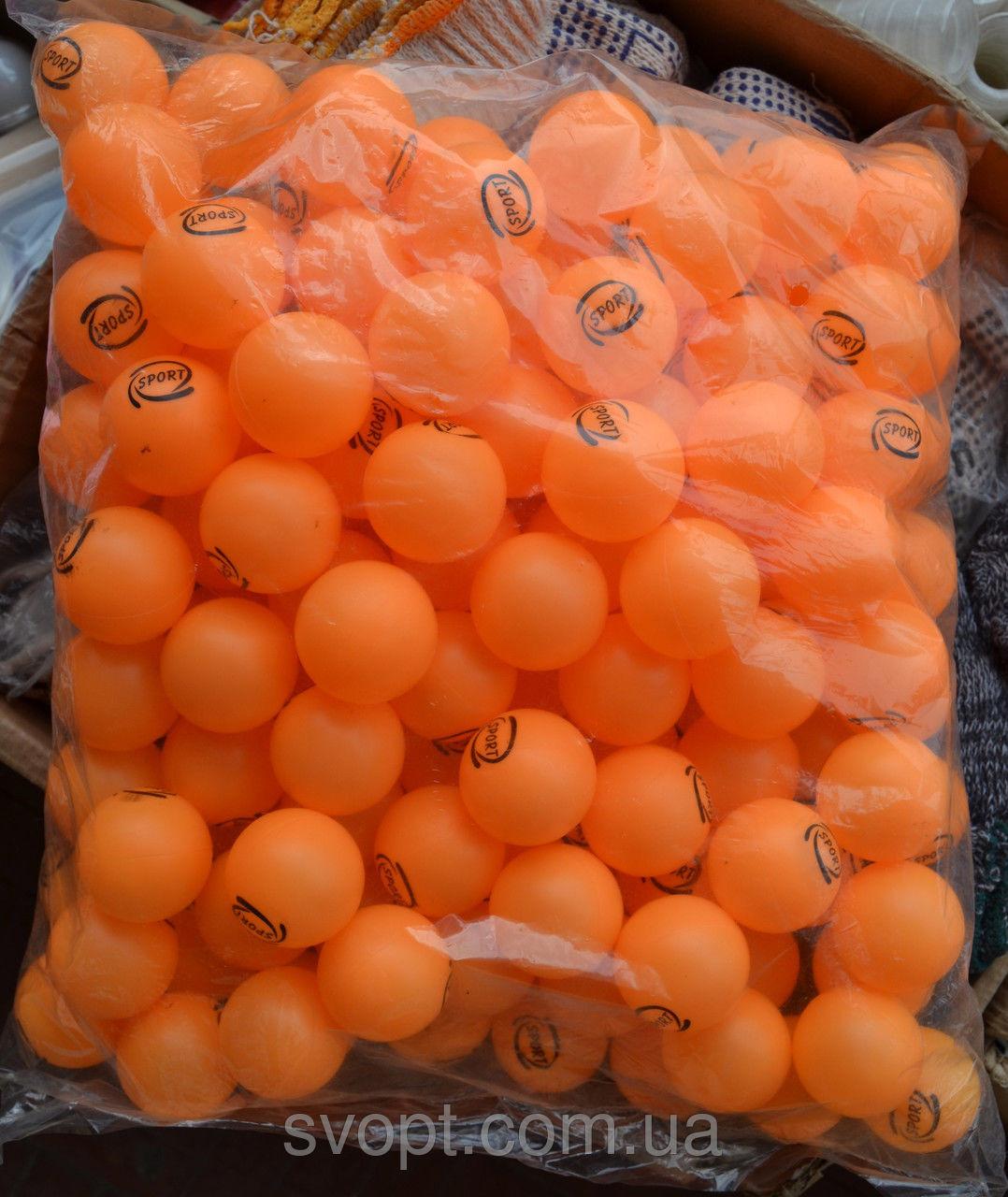 Шарики для настольного тенниса 150 штук оранж