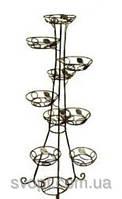 Кованная подставка для цветов на 9 вазонов (башня+лоза)