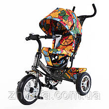 """Велосипед трехколесный TILLY Trike """"Бабочка"""", Графит,( большие резиновые колеса)"""
