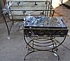 Кованный мангал и столик комлект