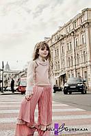 Детские многослойные, расклешенные, плиссированные брюки на подкладке
