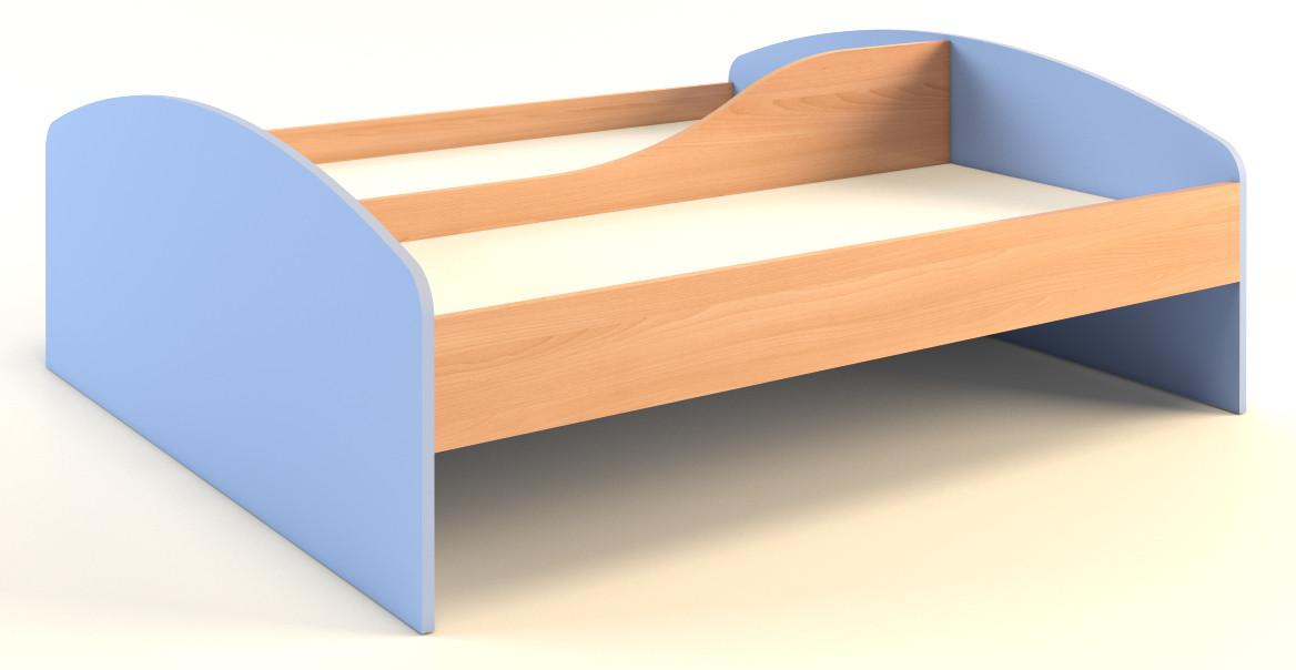 Кровать детская, 2-местная, с перегородкой — 1440х1250х510 мм, фото 1