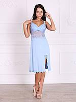 Роскошная женская ночная сорочка из вискозного полотна