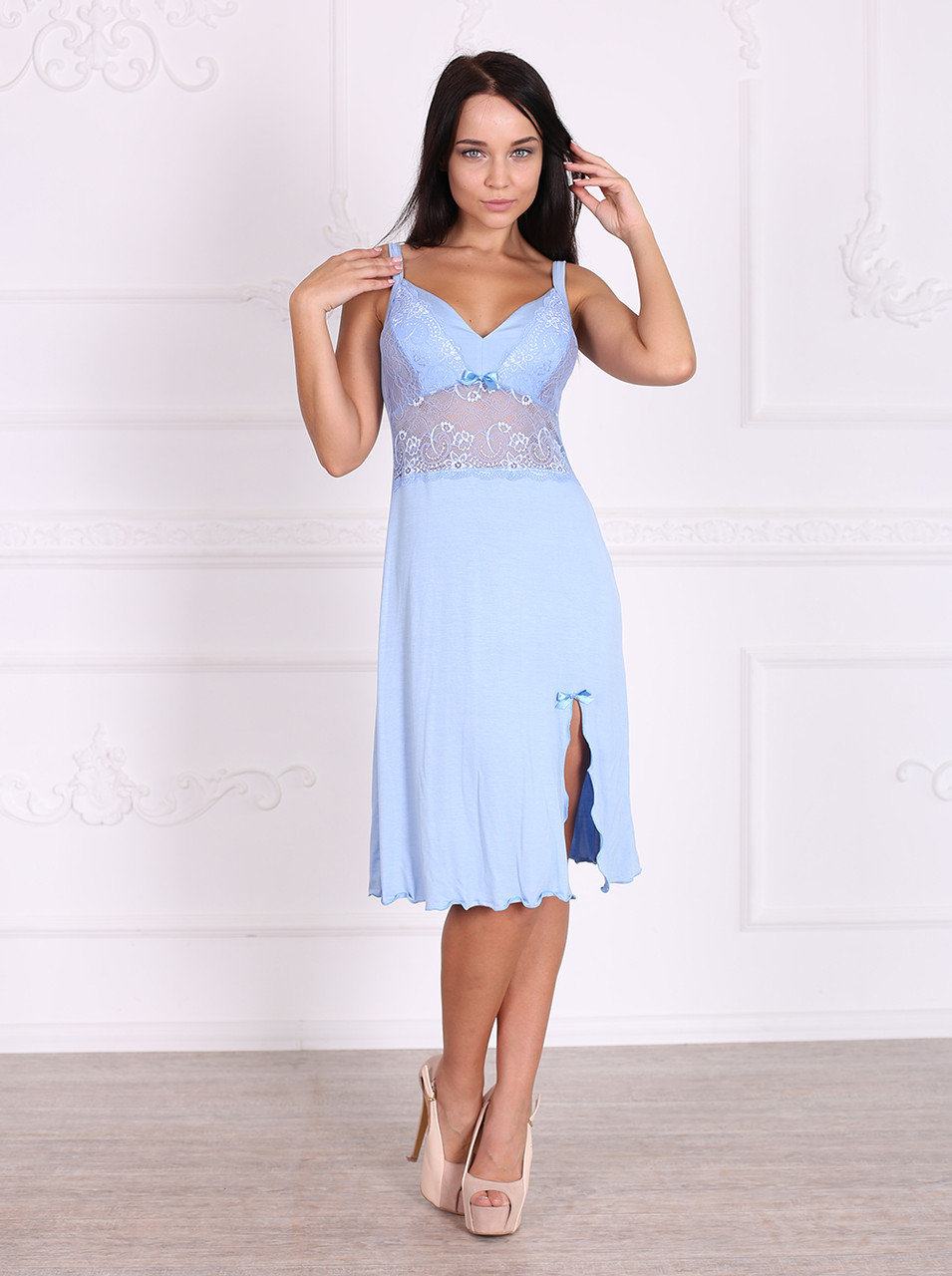 b1648c3b158a Роскошная женская ночная сорочка из вискозного полотна