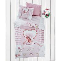 Детский 3D комплект постельного белья для новорожденных в кроватку,в коробке, сатин, Deco Bianca Турция