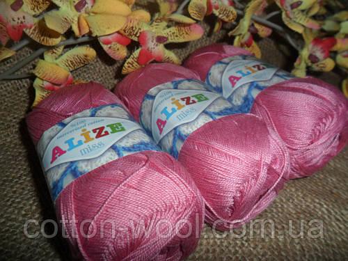 Alize Miss (Ализе Мисс) 100% мерсеризованный хлопок 264 ярко-розовій