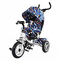 """Велосипед трехколесный TILLY Trike """"Ракеты"""" T-351-10 Белый (большие надувные колеса)"""