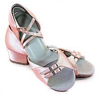 Туфли для танцев Galex детские (цвет: бежевый сатин)