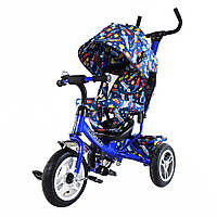 """Велосипед трехколесный TILLY Trike """"Ракеты"""" T-351-10 Синий (большие надувные колеса)"""