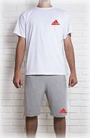 Светлый комплект adidas шорты+футболка
