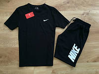 Футболка и шорты Найк черные