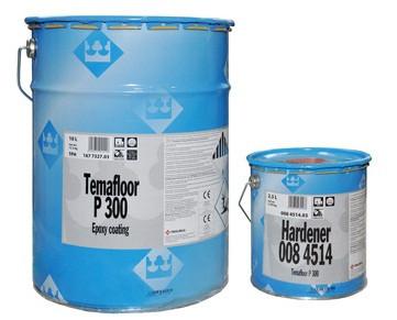 Эмаль эпоксидная TIKKURILA TEMAFLOOR Р300 для промышленных полов, 10+2,5л