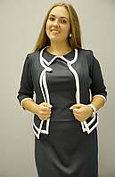 Женские костюмы больших размеров. Платье Жасмин с жакетом